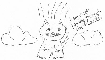 really bad drawing of a cat